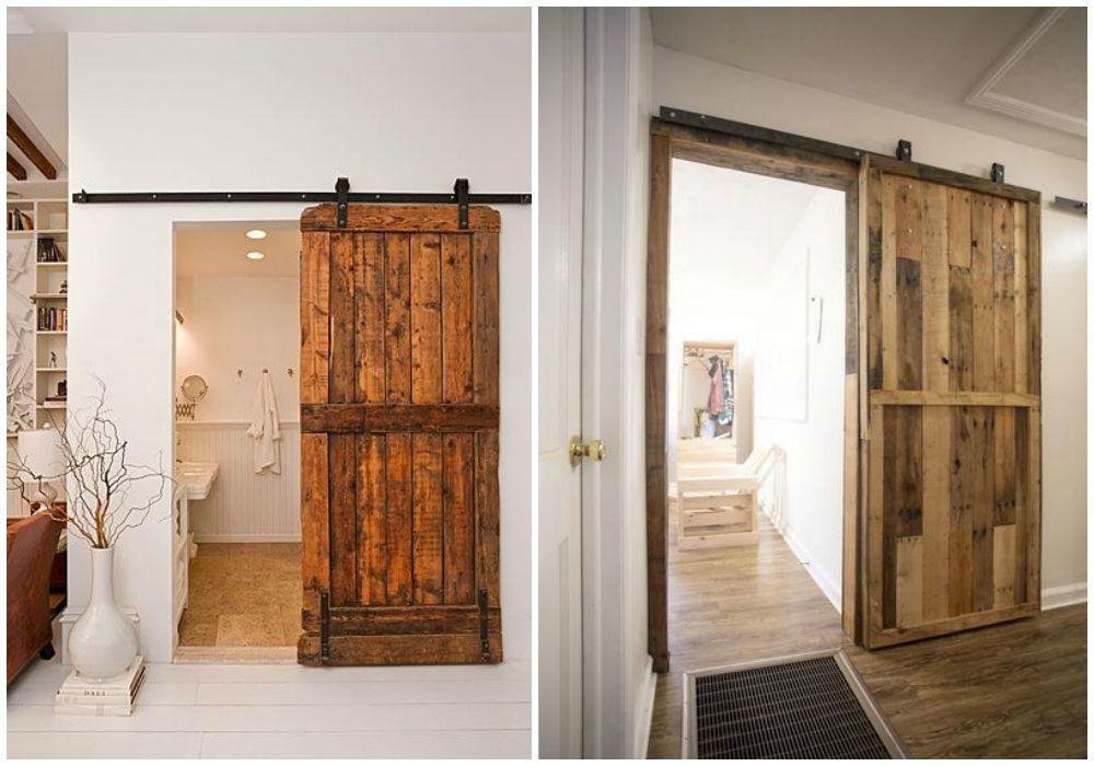 Reciclaje en el aseo ecodeco mobiliario for Construir puerta corredera