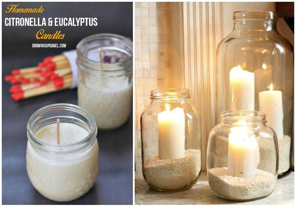 Recipientes para velas ecodeco mobiliario - Botellas con velas ...