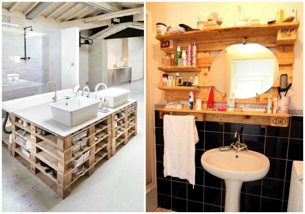Reciclaje en el aseo ecodeco mobiliario for Muebles de jardin con palets reciclados