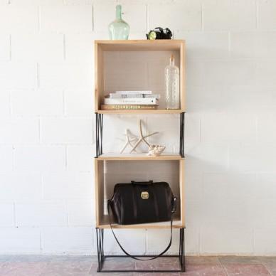 Estanter a patas met licas bacus ecodeco mobiliario - Estanterias metalicas para libros ...
