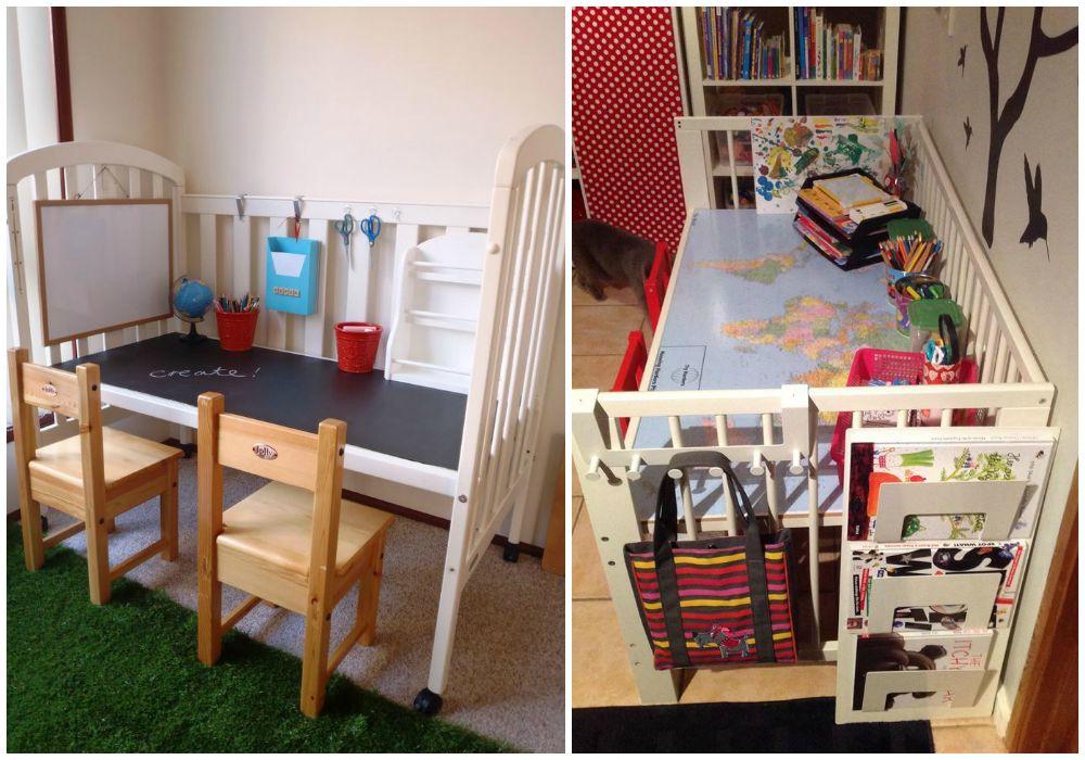 Reciclar una cuna ecodeco mobilario - Ideas para colgar fotos habitacion ...