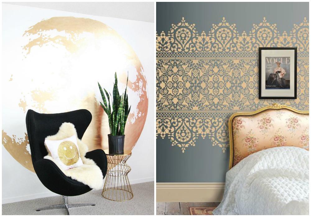 Decorar en dorado ecodeco mobiliario - Pintura dorada para paredes ...