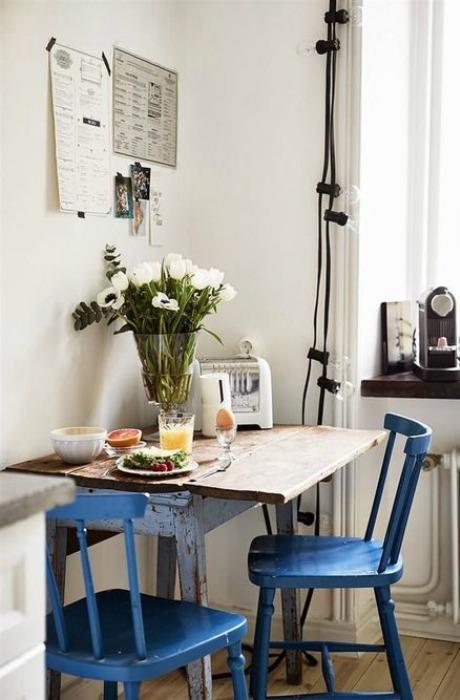 Mesa de desayuno ecodeco mobiliario - Mesa cocina vintage ...