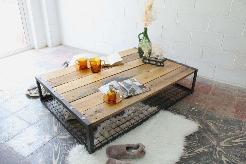 Mesas de estilo industrial ecodeco mobiliario - Mesas palets madera ...