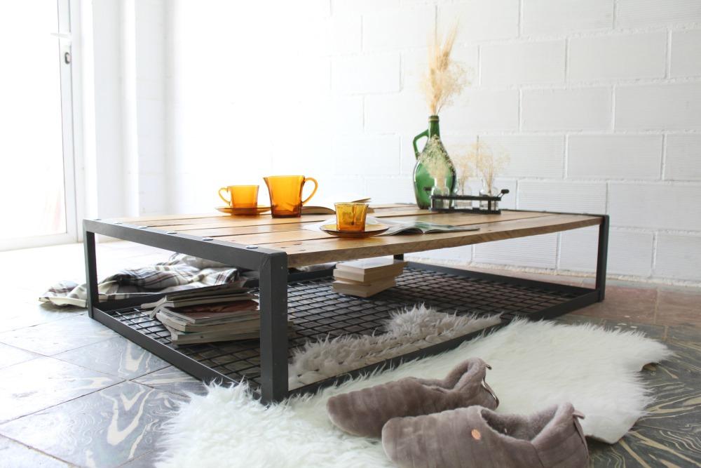 ... 3 Craft Table Everest Wood Upcycled Iron Design ...
