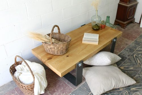 Denali mesa de tablones 119x57cm ecodeco mobiliario - Mesa salon madera ...