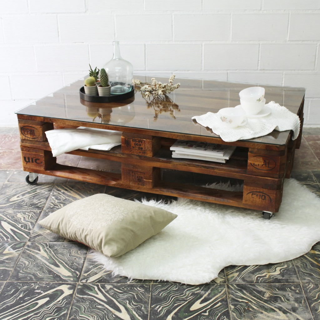 Mesa palets mulhac n ecodeco mobiliario - Mesas de palets de madera ...