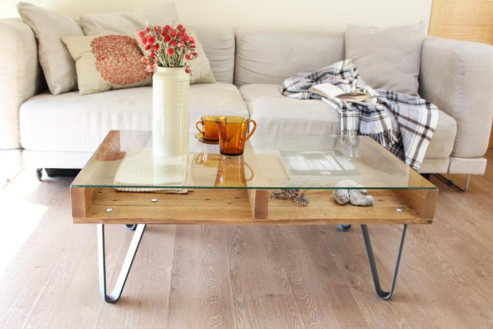 Cervino mesa industrial ecodeco mobiliario - Patas para mesa de centro ...