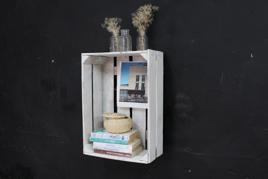 Estanteria cajas de fruta casta o ecodeco mobiliario - Estanteria cajas madera ...