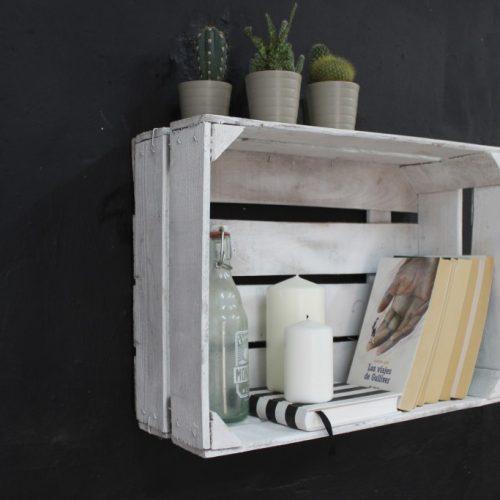 Estanteria cajas de fruta cedro ecodeco mobiliario for Cajas de madera blancas