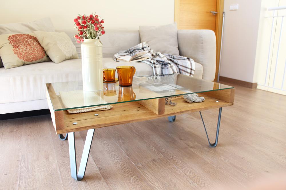 Cervino mesa industrial ecodeco mobiliario - Mesa madera industrial ...
