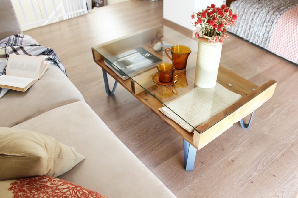 Cervino mesa industrial ecodeco mobiliario - Mesa madera reciclada ...