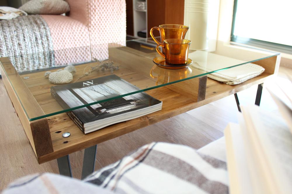 Cervino mesa industrial ecodeco mobiliario - Mesa centro palet ...