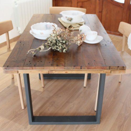 Alcazaba mesa de comedor de tableros de madera reciclada - Mesas de comedor medidas ...