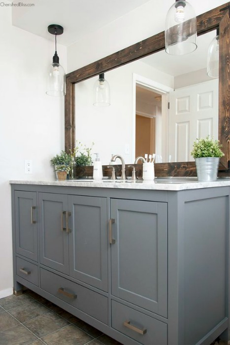 Espejos con marco de madera reciclada ecodeco mobiliario for Espejo horizontal