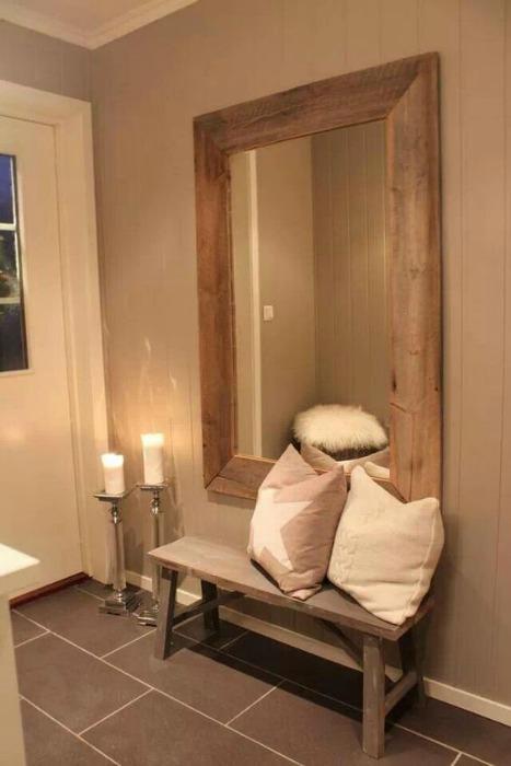 Espejos con marco de madera reciclada ecodeco mobiliario - Espejos marco madera ...
